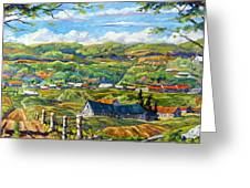 Big Valley By Prankearts Greeting Card