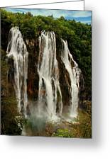 Big Water Fall Croatia Greeting Card