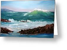 Big Wave Coming Greeting Card