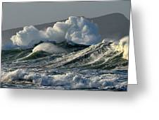 Big Waves At Clogher Beach Greeting Card