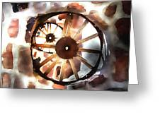 Big Wheel Wall Greeting Card