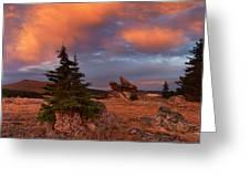 Bighorn Mountains Sunrise Greeting Card