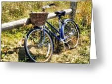 Bike At Nantucket Beach Greeting Card
