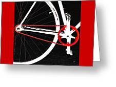Bike In Black White And Red No 2 Greeting Card by Ben and Raisa Gertsberg