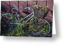Bike In The Vines Greeting Card