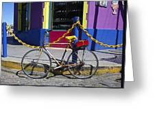 Bike La Boca Greeting Card