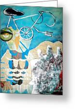 Bike Owl Greeting Card by Amy Sorrell