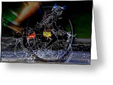 Bike Rider - Canada To Charleston To New Orleans Greeting Card