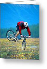Bike Stunt Greeting Card