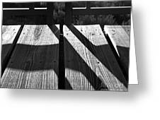 Bike Trail Bridge Bw Greeting Card
