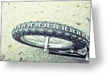Bike Tyre Greeting Card