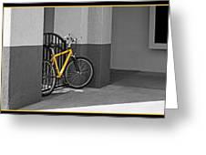 Bike With Frame Greeting Card
