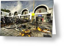 Bikes After The Storm  Greeting Card