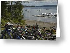 Bikes And Boats Greeting Card