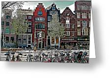 Bikes Everywhere In Amsterdam-netherlands Greeting Card