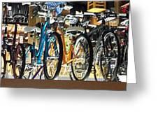 Bikes Hanging Around Greeting Card