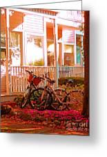 Bikes In The Yard Greeting Card