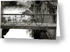 Bikes Over Waller Creek Greeting Card