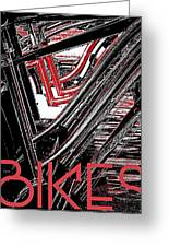 Bikes Poster -- A Greeting Card by Brian D Meredith