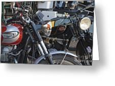 Old Motorbikes Greeting Card