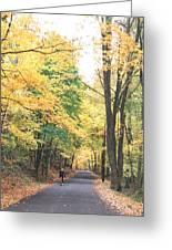 Biking In Bucks County Greeting Card
