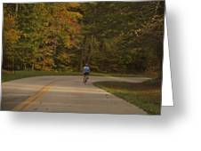 Biking In The Smoky Mountains Greeting Card
