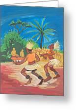 Bikutsi Dance 2 From Cameroon Greeting Card