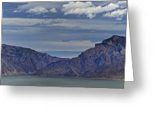 Bill Cody Reservoir From Sheep Mountain  Panoramic  Signed  25.75x78 Greeting Card