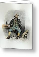 Bill Sykes And His Dog, From Charles Greeting Card