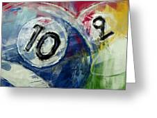 Billiards 10 And 9 Greeting Card