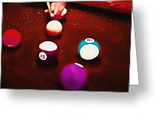 Billiards Art - Your Break Red Greeting Card