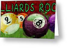 Billiards Room Abstract  Greeting Card
