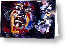 Billie Holiday Jazz Faces Series Greeting Card