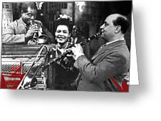 Billie Holiday Louis Armstrong Barney Bigard  New Orleans Set 1947-2010  Greeting Card