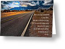 Billy Graham Quote Guidance Greeting Card