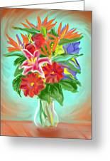 Billys Flowers Greeting Card