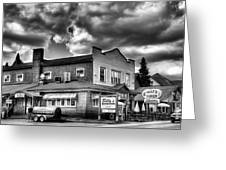 Billy's Restaurant And Walt's Diner - Old Forge New York Greeting Card