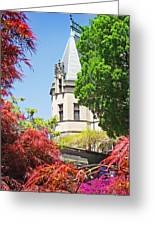Biltmore And Japanese Maple Trees Greeting Card