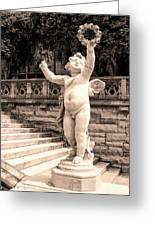 Biltmore Cherub Asheville Nc Greeting Card by William Dey