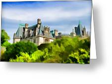 Biltmore In The Distance Greeting Card