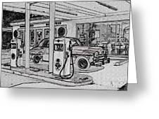 Bings Burger Station Cottonwood Arizona Greeting Card
