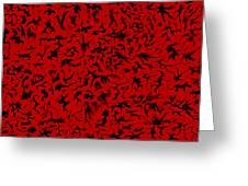 Biomorphic Shadows Greeting Card