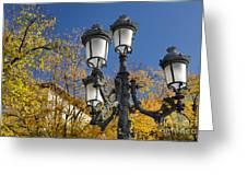 Bip Rambla Streetlight Greeting Card