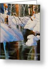 Birch At Russian Jack Park Greeting Card