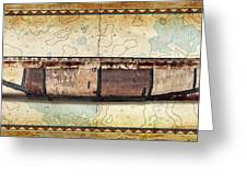 Birch Bark Canoe And Map Painting By Jq Licensing