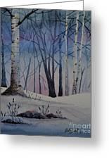 Birch Dawn Greeting Card