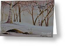 Birch Drift Greeting Card
