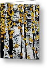 Birch Study Fall Greeting Card