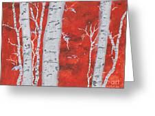 Birch Woods Greeting Card