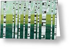 Birches At The Beach Greeting Card
